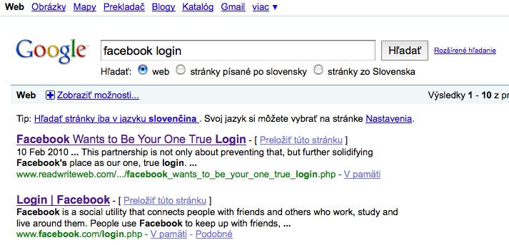 Google facebok login