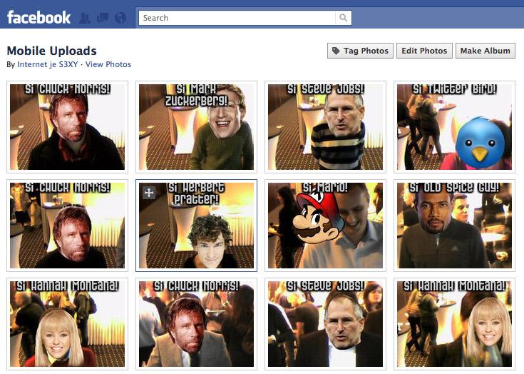 Facebook galéria augmented reality fotiek